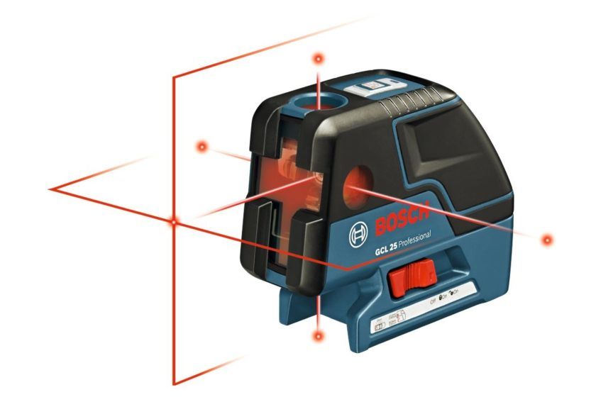 Демонстрация лучей лазерного уровень Bosch GCL 25 Professional