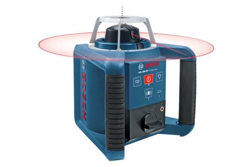 Ротационный уровень BOSCH GRL 300 HV Professional, пример построения