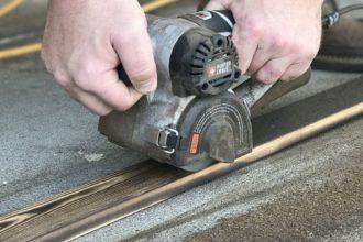 Щеточная машина porter cable restorer в работе