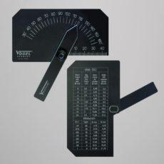 Шаблон для проверки заточки сверл до 60 мм от 30 до 160 градусов